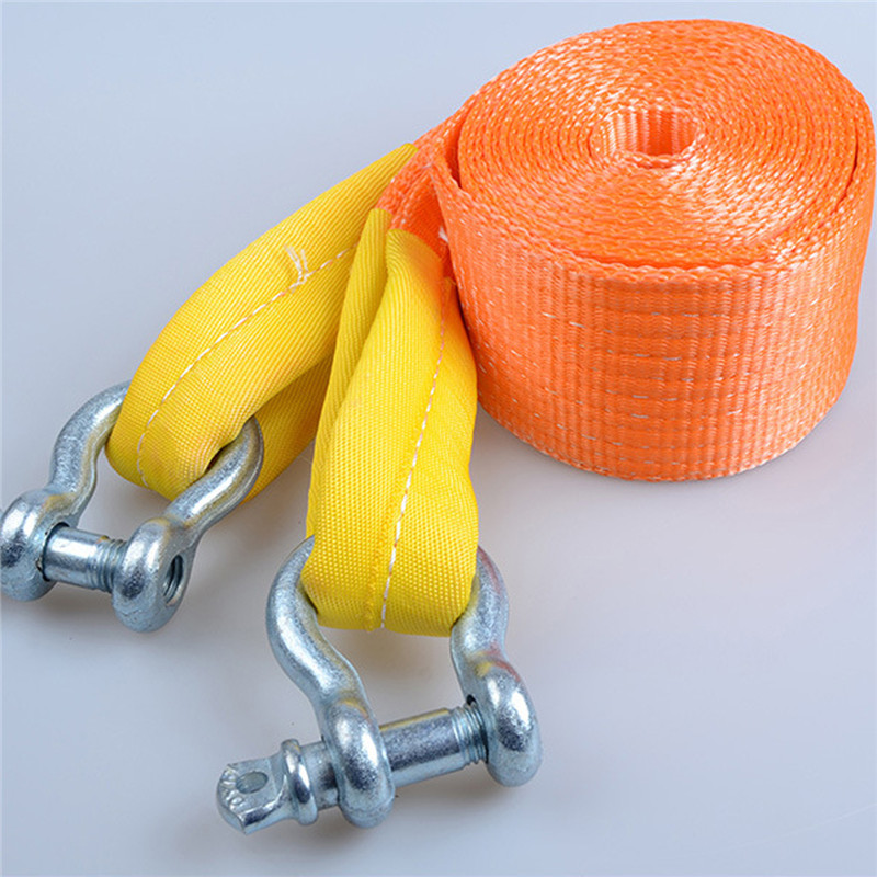 6M 12Tons Winch Tow Cable Tow Strap Car Towing Rope With Hooks High Strength Nylon &Gloves For Heavy Duty Car Emergency Off Roa trailer belt car refires general trailer towing ropes tow hook strap nylon tow ropes