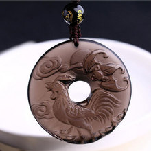 Natural high-quality ice Obsidian zodiac Rooster buckle  pendant 2017 year of the rooster men and women wear Keep peace the rooster struts page 8