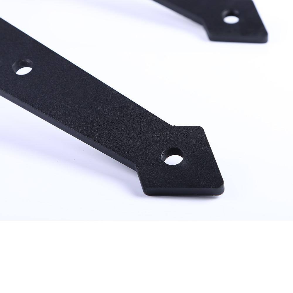 LWZH Industrial Style Sliding Barn Door Steel Hardware Kit Closet Track Set Black Arrow Shaped Hangers for 10FT/11FT Single Door