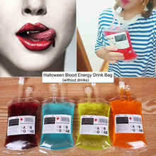 1pc 350ml Blood Juice Energy Drink Bag Halloween event Party supplies Pouch Props Vampires Reusable Package