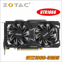 Оригинал ZOTAC видео карты GP106 400 GPU GTX 1060 3 ГБ 192Bit GDDR5 Графика карты карта nVIDIA GeForce GTX1060 3GD5