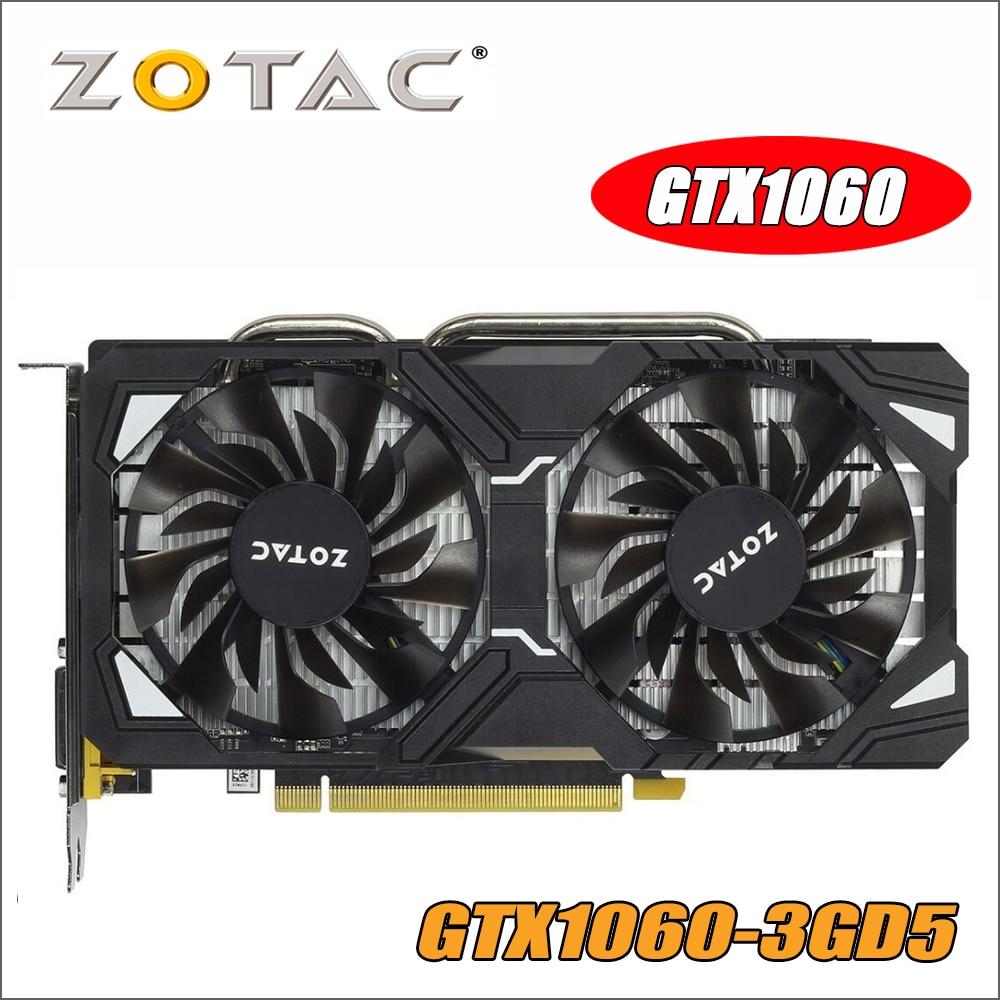 Original ZOTAC Video Card GP106-400 GPU GTX 1060 3GB 192Bit GDDR5 Graphics Cards Map for nVIDIA GeForce GTX1060 3GD5