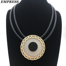 Empress 2018 DIY Jewelry Beauty Claims The Handmade Double-Layered Vintage Soft foam Aluminum Necklace is a Lucky Necklace.(China)