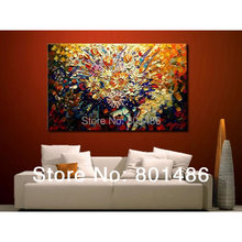 Free shipping! Handmade abstract oil paintings modern palette knife flower painting frameless landscape Wall Art