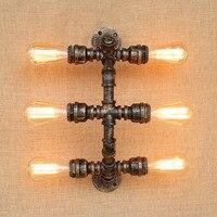 Ретро Лофт водопровод лампа Винтаж промышленных бра для дома wandlamp edison бра аппликация murale светильник