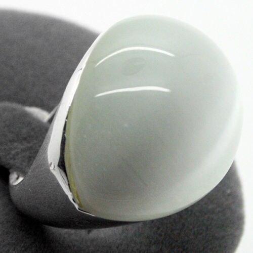 20*26mm homme/femme 925 Blanc Naturel Clair Opale Selling tassel indian jewelry jadeite bohemian adjustable rings