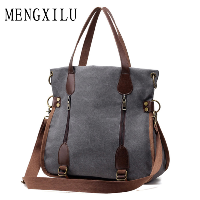 2017 Fashion Big Women Canvas Bag Ladies Shoulder Bags Handbags Women Famous Brands Large Captain Casual Tote Bags Sac A Main fashion patchwork trapeze bags handbags women famous brands women crossbody bag smile face ladies hand bags new big capacity sac