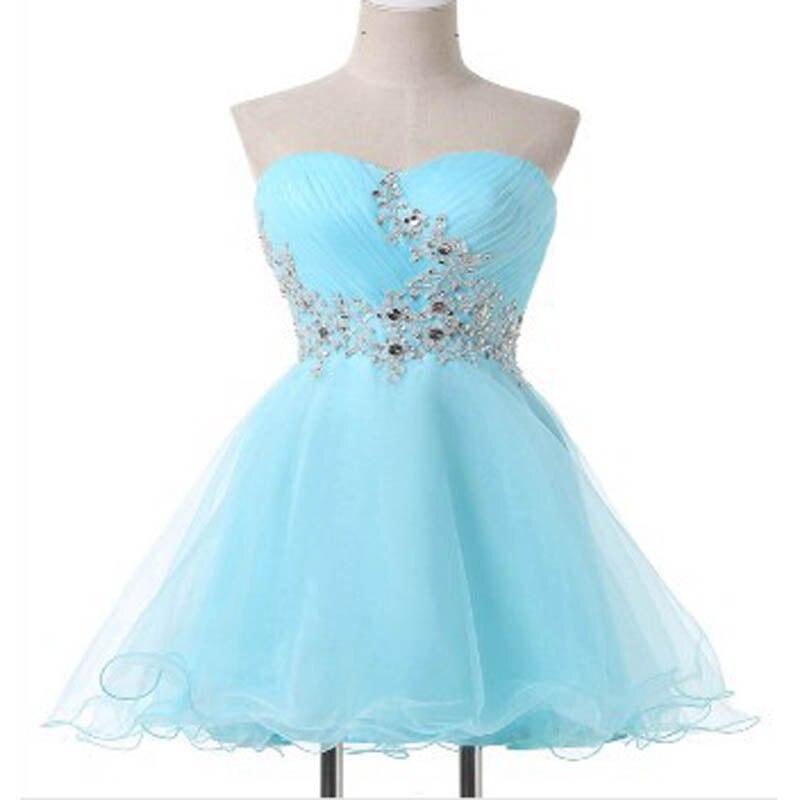 U-SWEAR 2019   Cocktail     Dresses   Sweetheart Mini A-Line Appliques Beading Evening Party   Dresses   Short Formal   Dresses   vestidos de