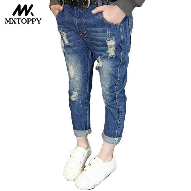 Spodnie MXTOPPY dla dzieci z pękniętymi otworami dla chłopców - Ubrania dziecięce - Zdjęcie 1