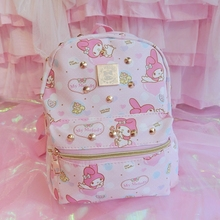 Cute Hello Kitty Bag My Melody Backpack Cartoon Children School Bag For Kids Best Gifts  For Girls Bag Backpack Kitty Travel Bag sheepet sp120452 my melody hello kitty