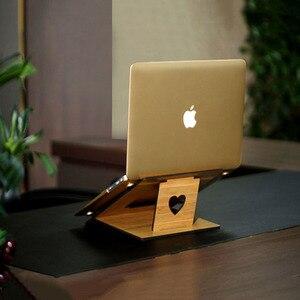 Image 2 - לארווין ארגונומי מחשב נייד Stand עבור Macbook Pro מתקפל קירור מחשב נייד מחזיק מתכוונן נייד מחשב Stand lapdesk Suporte מחברת