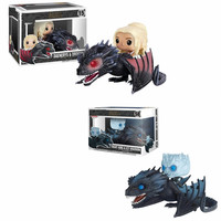 Pop A Song Of Ice And Fire Game Of Thrones NIGHT KING ICY VISERION Daenerys Rides Drogon Action Toy Figures Collectible Model