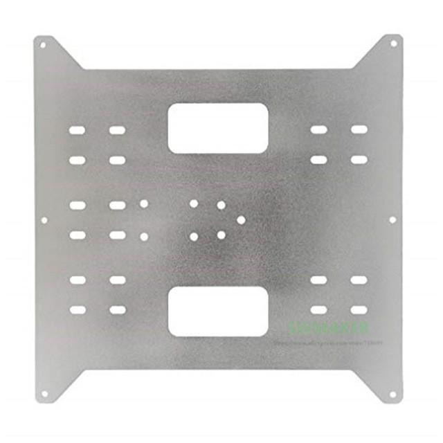 Y Carriage Replacement Upgrade Aluminum Plate for Maker Select, Wanhao Duplicatior i3 and Anycubic i3 Mega 3D Printers