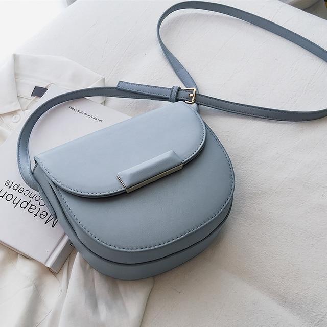 Mini Saddle Bag 2019 Nova Moda de Alta Qualidade PU de Couro Das Senhoras Designer de Bolsa de Viagem Simples Saco Do Mensageiro Do Ombro Para As Mulheres