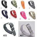 Marca de lujo de negocios de ocio deportivo 18/20/22/24mm correa de cuero de las mujeres de nylon de las mujeres banda de reloj para daniel wellington mujeres