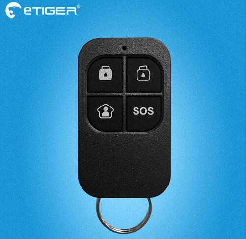 Etiger 433 MHZ Wireless High-performance Remote Control 4 Buttons For Etiger Home Security Alarm System universal one way car alarm security system with four buttons remote transmitters suitable for all kinds of cars fast shipping