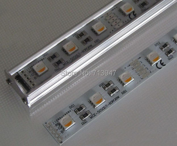 New DC12V RGBW 5050 LED Rigid Strip Aluminum PCB 60LEDs M Free Shipping