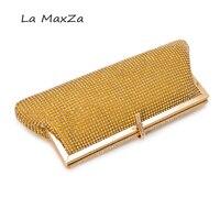 Jahrestagsfeier NEUE Luxus handtasche frauen Entwickelt, um für gold Diamanten Kette Haspe abend Strass schulter Handtaschen