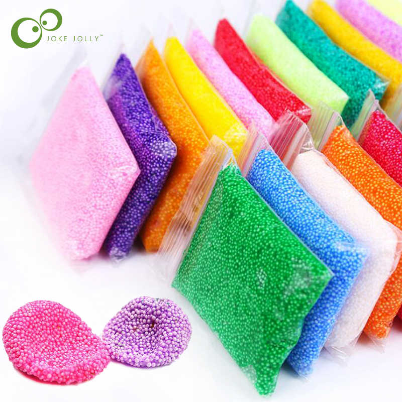 24 Colors Snow Mud Fluffy Foam Slime Scented Stress Relief No Borax Kids Toy Clay for Arts Crafts 20g/Bag Free Shipping GYH