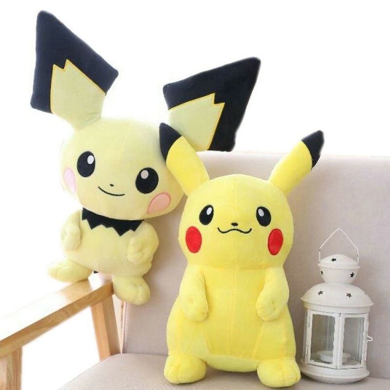 30~60cm Pikachu Pichu Stuffed Anime Toys Japan Game Dolls Toys For Boy Big Size Pikachu Plush Toys For Children