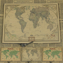Buy Large World Wall Map Poster And Get Free Shipping On - Large vintage world map poster
