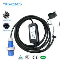 YKS ESNES Portable EV car Charger SAE J1772 16A CEE 3 Pins Plug 5M Level2 EV charger