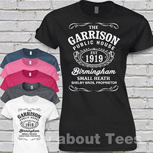 e4e97a82 2018 Garrison T Shirt Peaky birmingham Pub fitted Blinders t.v shelby Tee  shirt