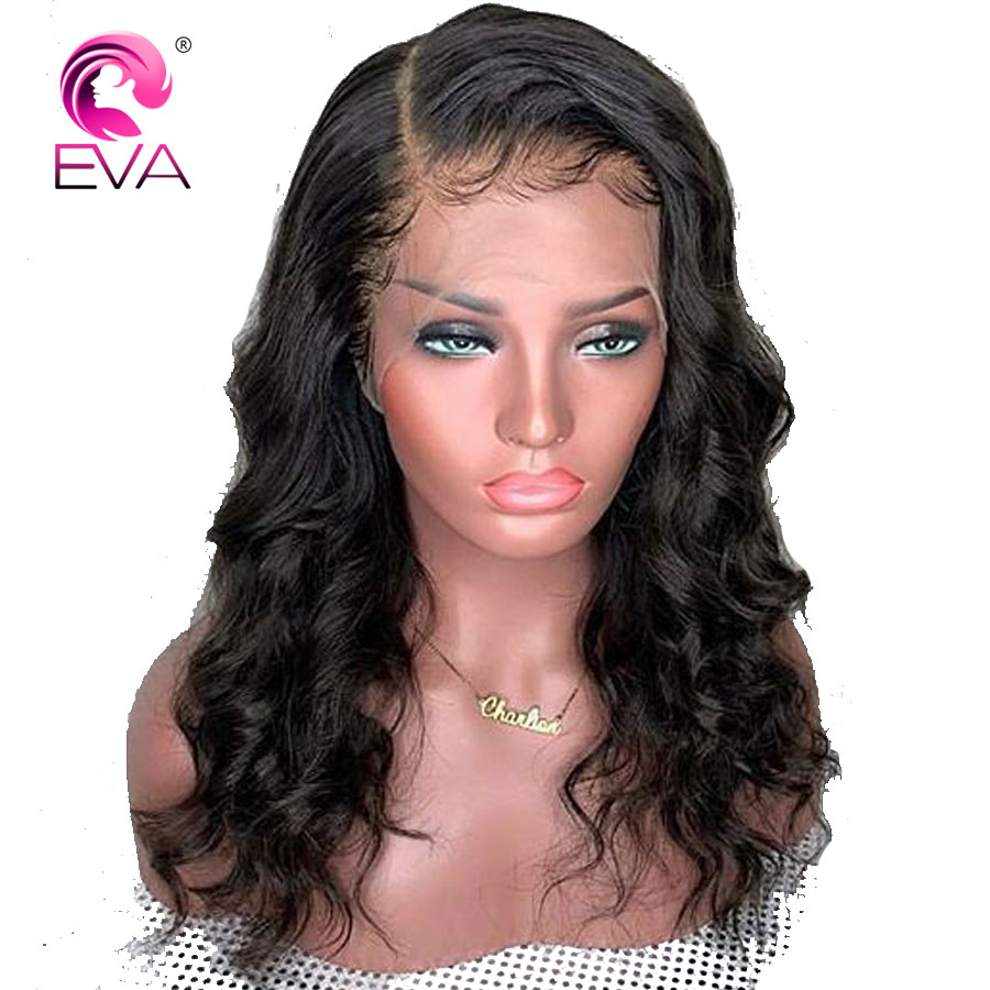 Eva Hair Wavy Lace Front Human Hair Wigs Pre Plucked With Baby Hair 13x6 Parting Lace