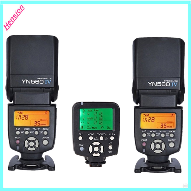 2x YONGNUO YN-560 IV Master Radio Flash Speedlite +1x YN560-TX LCD Wireless Flash Controller For Canon Nikon  yongnuo yn 560 iv yn560 wireless ttl hss master radio flash speedlite 2pcs rf 605c rf605 lcd wireless trigger for canon camera