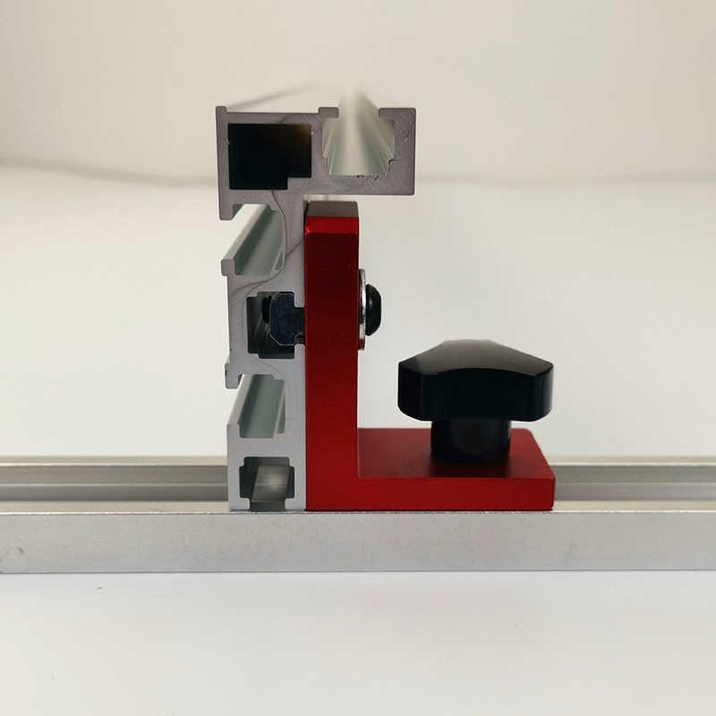 Новые Раздвижные кронштейны T-track, направляющая для резки стоп T-track, раздвижные кронштейны для T-Slot T-Track T-track, не включены DIY инструмент