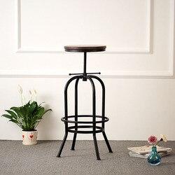 IKayaa FR Stock tabourets de Bar pivotants meubles industriels taburée pin haut cuisine dinant la chaise tabouret de comptoir