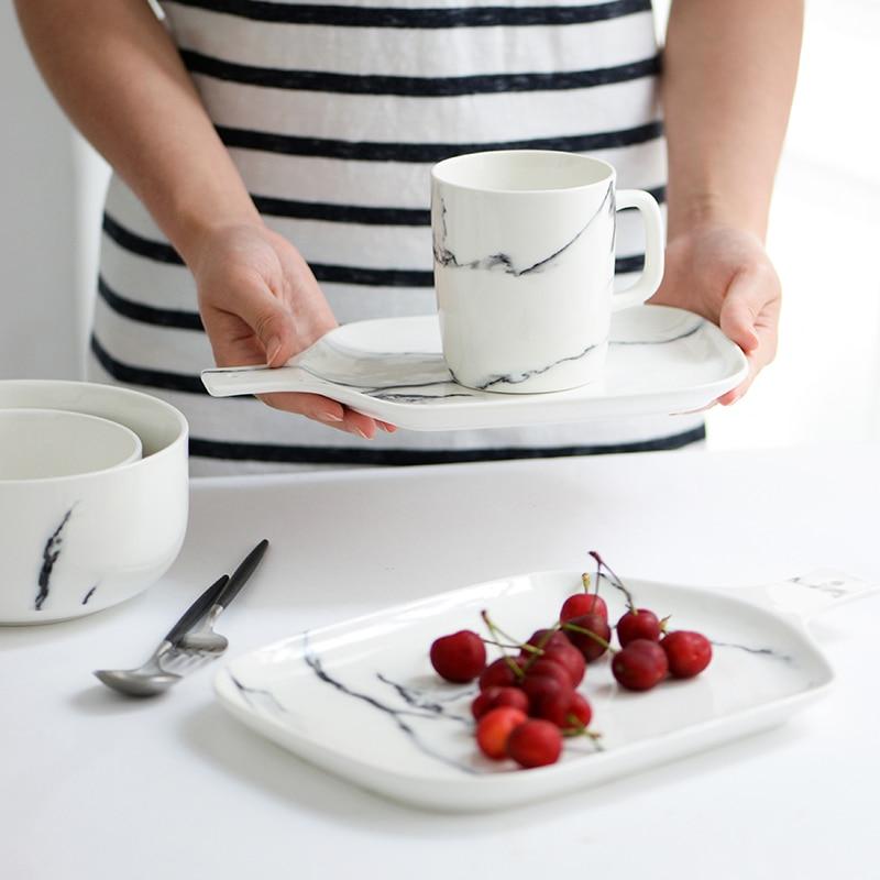 aliexpress : 2 teile/satz moderne marmoriert keramik geschirr, Esszimmer