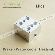 1Pcs 3D Printer Kraken Water cooler Aluminum Heatsink For Four Nozzles Head 1.75mm 3mm Long Distance Print Head