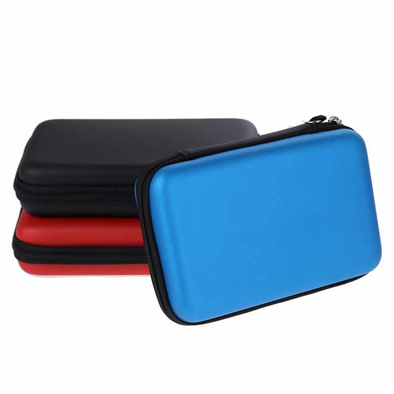 Hot 3 Colors EVA Carrying Case Bag for New 3DS XL 3DS LL 3DS XL Storage Case Cover for Nintendo Pouch Hard Bags with Strap