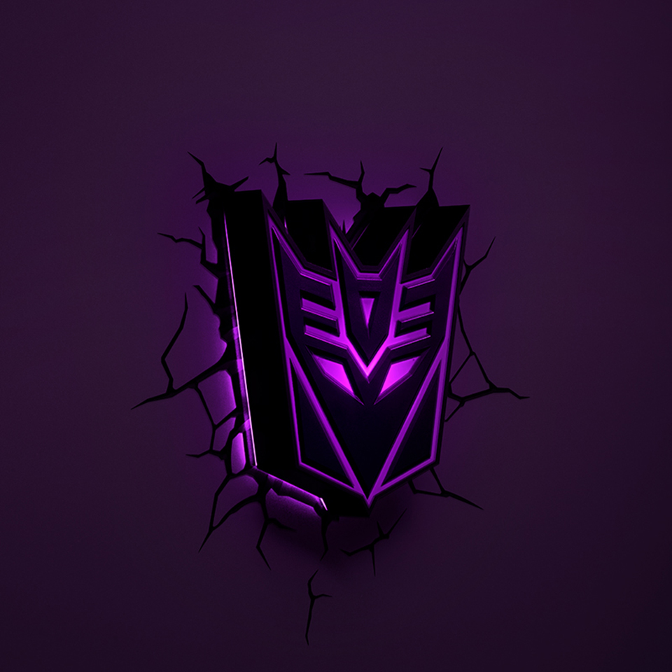 GuxenTransformer Autobots Decepticons 3D Creative Mood Lamp Color Change Night Light Child Kids Bedroom Deco Boys Xmas Gifts - 3