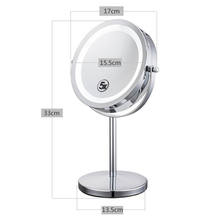 6 Inch 5x Magnification Cosmetic Makeup Mirror Round Shape 2Sided Rotating Magnifier Mirror