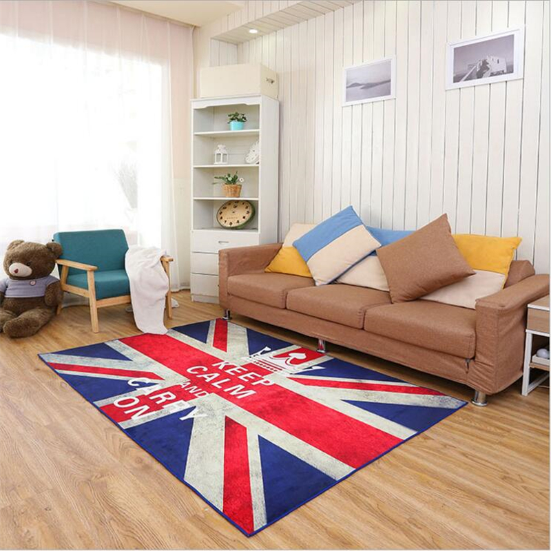 2017 F Large Flag Style Modern Soft Carpet For Living Room Bedroom Kid Play Delicate Rug Home Floor Fashion Study Room Mat