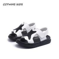CCTWINS KIDS 2018 Summer Children Genuine Leather Beach Sandal Baby Boy Fashion Shoe Toddler Brand Black