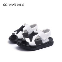 CCTWINS KIDS 2018 Summer Children Genuine Leather Beach Sandal Baby Boy Fashion Shoe Toddler Brand Black