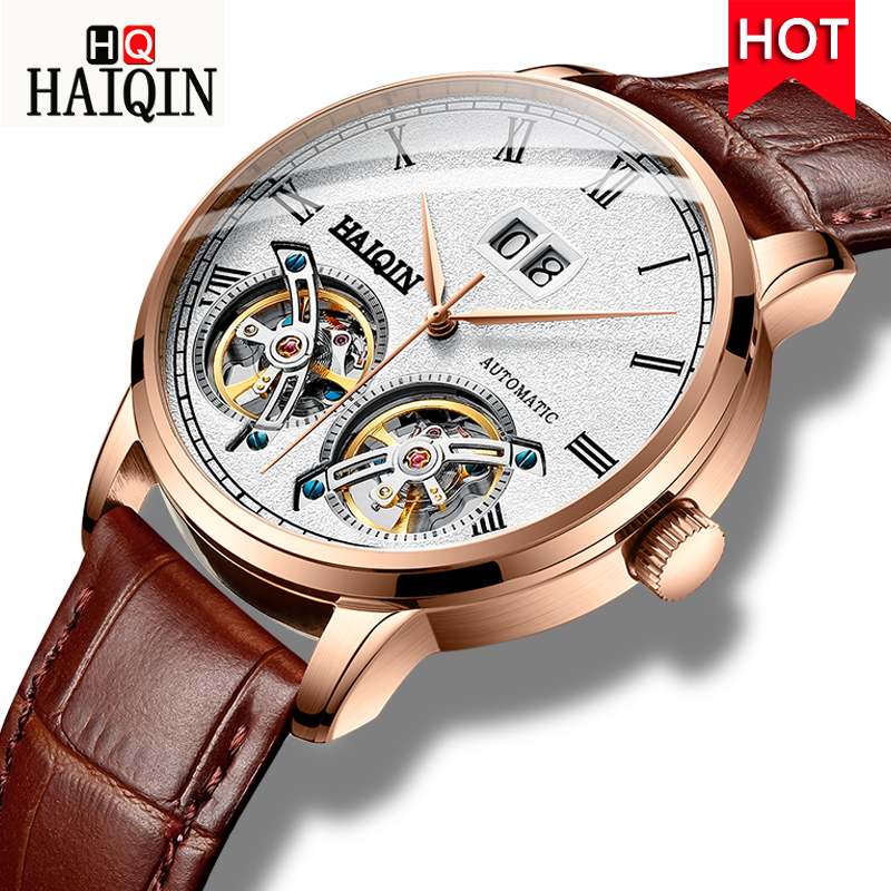 HAIQIN Men s Watches Watch Men 2019 New Luxury Waterproof Fashion sports Automatic Mechanical Gold Military