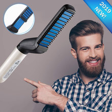 Electric Beard Straightener Brush Multifunctional Hair Straightening Heat Comb Styler for Men Best Hair Curlers Curling Irons steam magic styler electric curling irons hair styling tools hair brush with straightener curling steaming functions new