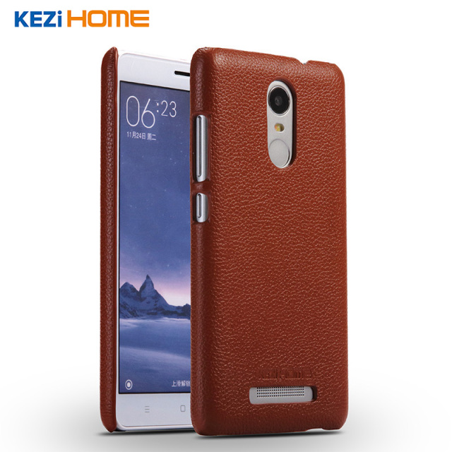 Xiaomi Redmi note 3 case KEZiHOME Litchi Pattern Genuine Leather Hard Back Cover capa For Xiaomi Redmi note 3 pro Phone cases