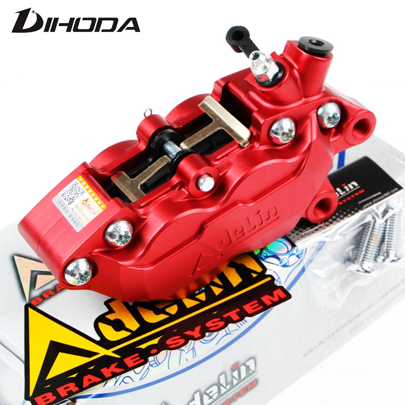 Motorcycle universal modification four piston ADL 7 HF6/F101 Brake calipers For BWS RSZ CNC rear brake motorcycle parts цены