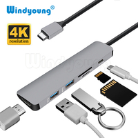 USB C Hub USB C to HDMI Micro SD/TF Card Reader USB 3.0 Converter Adapter for MacBook Samsung S9/S8 Huawei P20 Pro USB 3.0 Hub