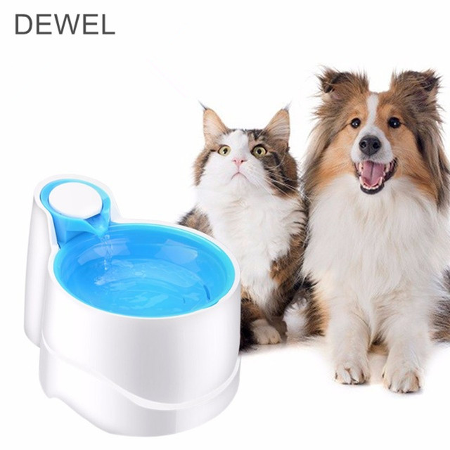 US $33 11 30% OFF Night Light Automatic Cat Dog Water Fountain Automatic  Pet Feeder 2 5L + Filter Anti Impurities Pet Drinkers for Dogs and Cats-in
