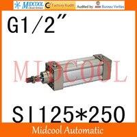 SI series ISO6431Standard cylinder SI125*250 port 1/2 bore 125mm Adjustable cylinder
