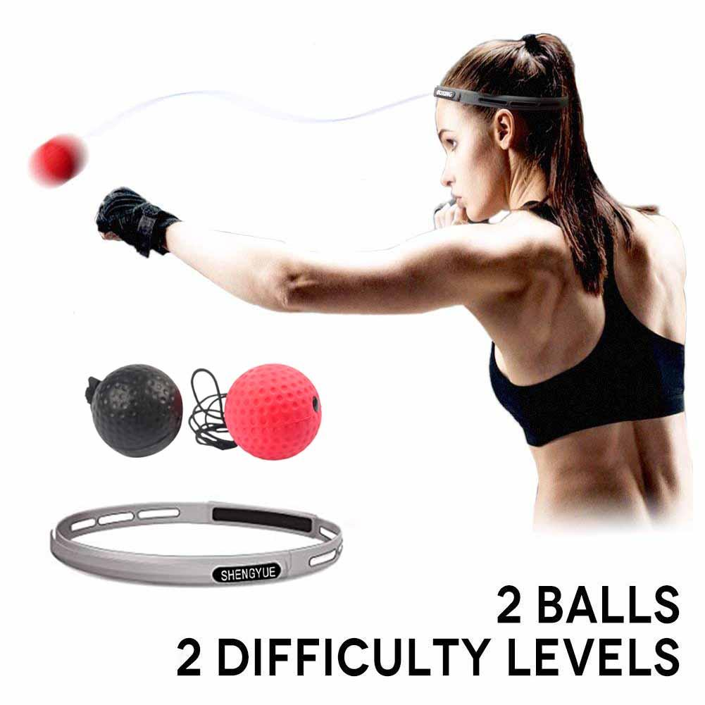 Dynamic Double End Pu Punching Ball Muay Thai Boxing Bags Speed Inflatable Balls Punch Fitness Sports Training Home Gym Accessories Office & School Supplies