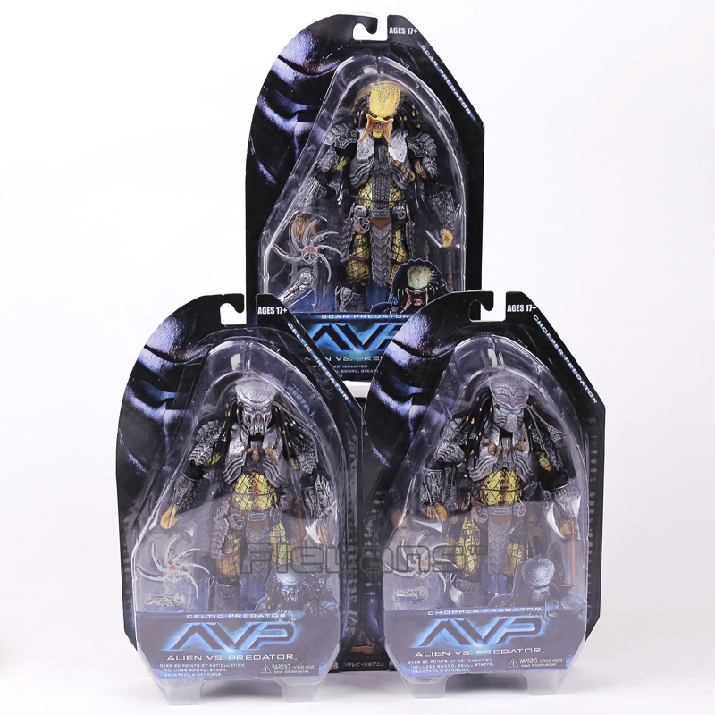 NECA AVP Alien vs. Predator Chopper Celtic Scar Predator PVC Action Figure Collectible Model Toy free delivery of genuine neca predator alien p1 ganso soldier elder predator model