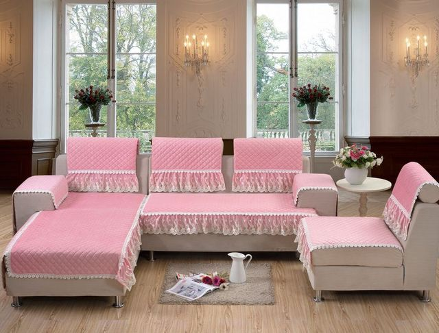 Multi size polyester cotton cushion sofa set cover sofa towel set ...