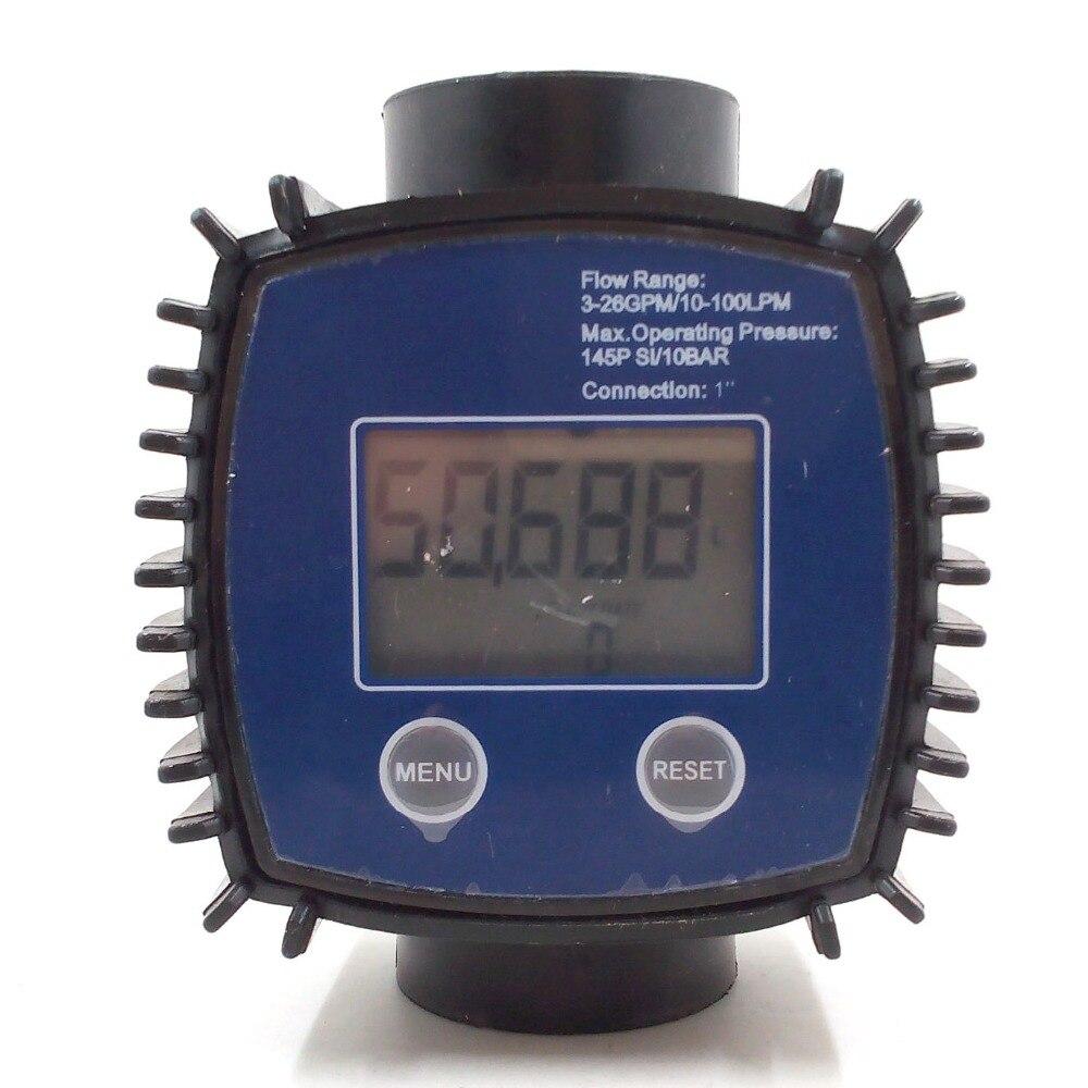 K24 G1 Digital Turbine Flow Meter Methanol Diesel Gasoline Chemical Liquid Water Meter with battery k24 turbine flow meter for water